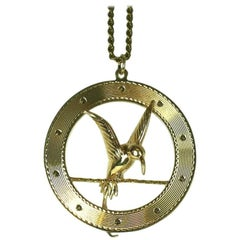 Charming Gold Hummingbird or Mocking Jay Charm