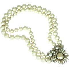 Miriam Haskell Freshwater Pearl Necklace