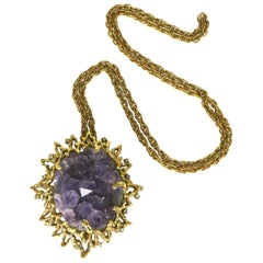 Jomaz Amythest Geode Pendant Necklace