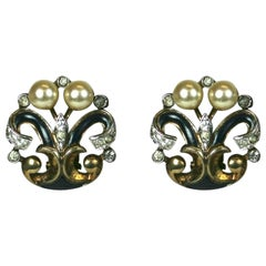 Trifari Eugenie Series Earclips