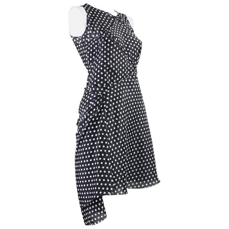 2003 Comme des Garcons Dotted Asymmetrical Dress