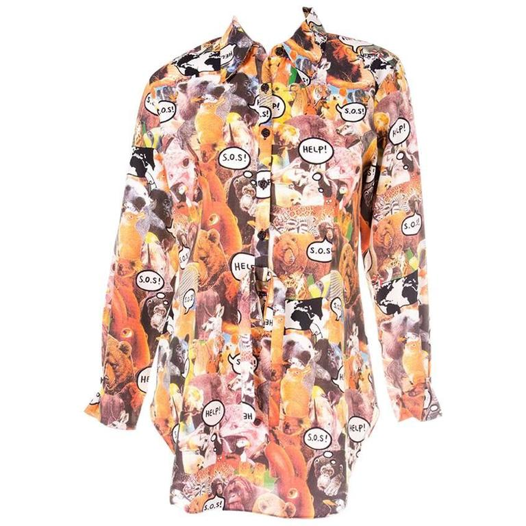 Moschino Rare Animal Photo Print Shirt 1