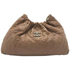 Chanel Brown Quilting Calfskin Leather Chain Shoulder Bag