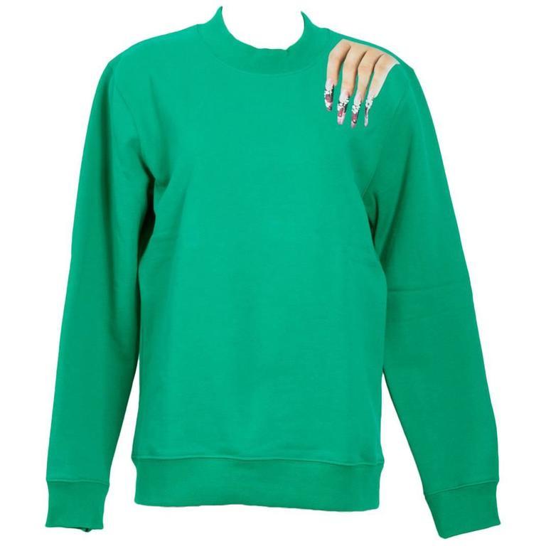 Raf Simons / Sterling Ruby 2014 Nails On Shoulder Print Sweatshirt 1