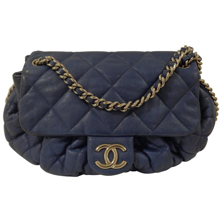 6e0dbdfc9ae50b Chanel Blu Silver Tone hardware Shoulder Bag For Sale at 1stdibs