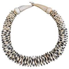 Vintage Danish Monies Gerda Lynggaard Horn Necklace Choker