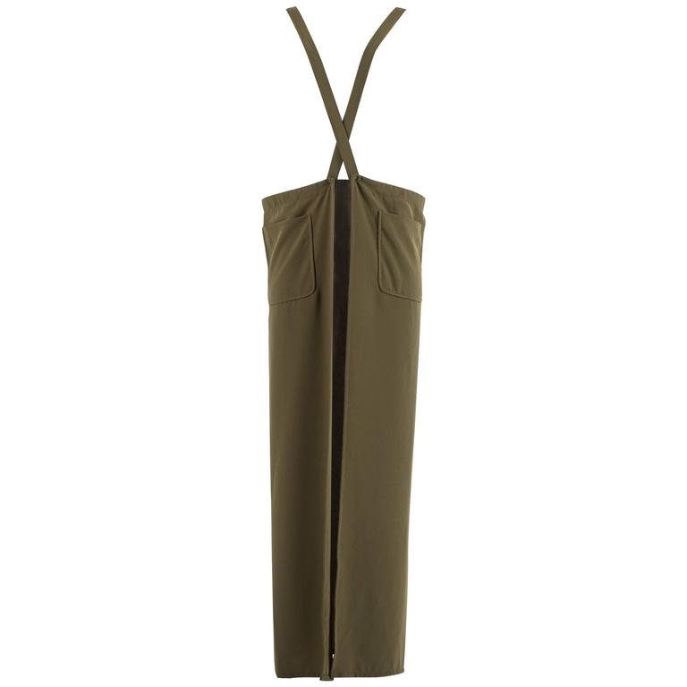 Maison Martin Margiela Autumn-Winter 1999 khaki green long apron