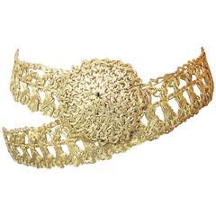 Golden Wire Crochet Belt 1960s
