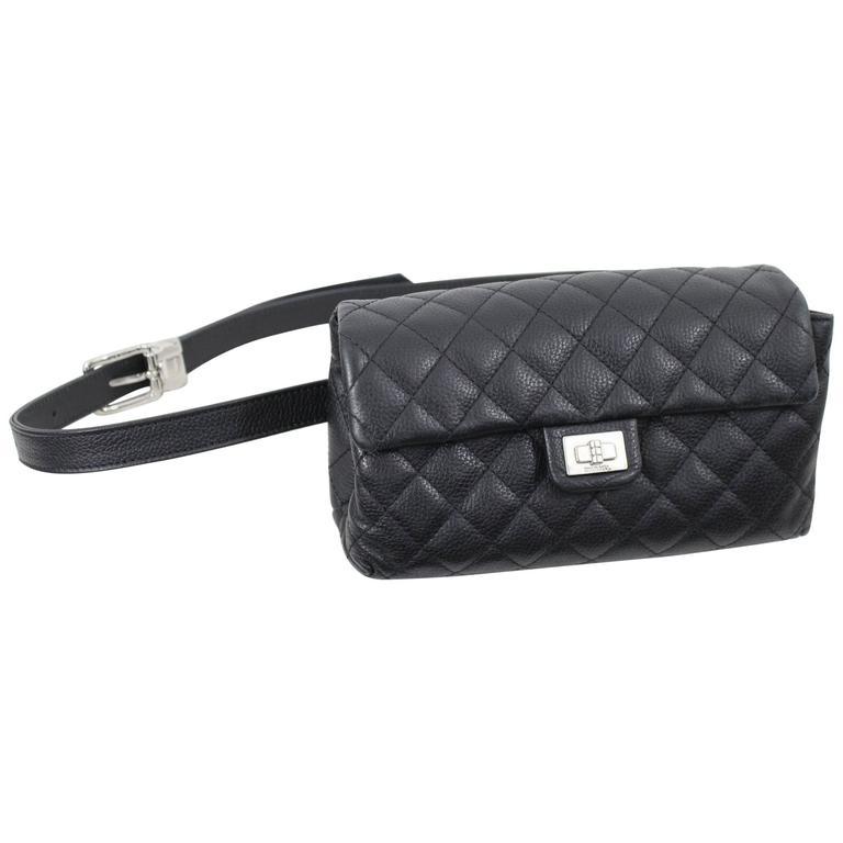 378d89c2fe346a Chanel Uniform Grained Leather 2.55 Beltbag. Adjustable Belt at 1stdibs