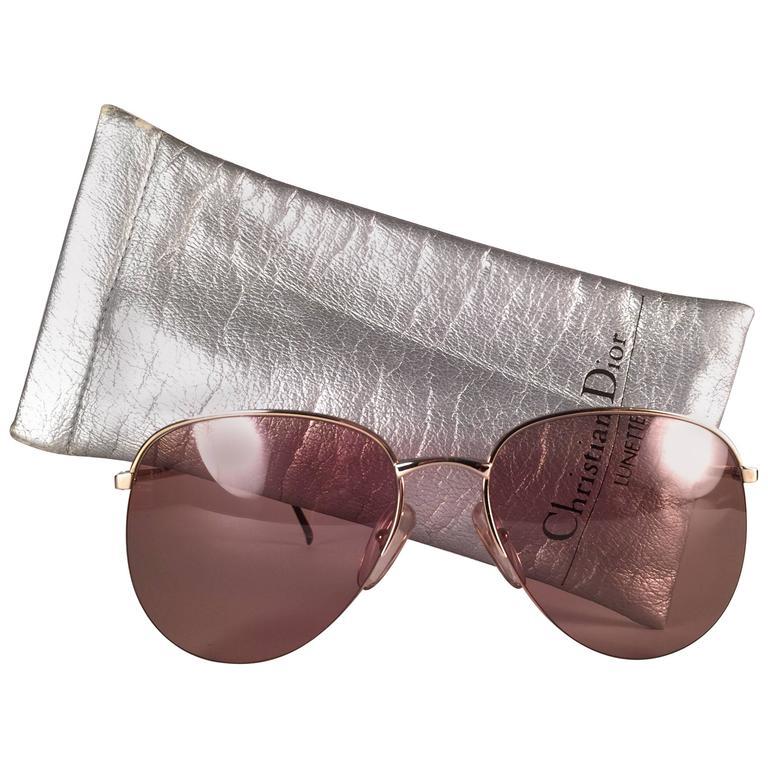 New Vintage Christian Dior Monsieur 2237 Half Frame Optyl Germany Sunglasses