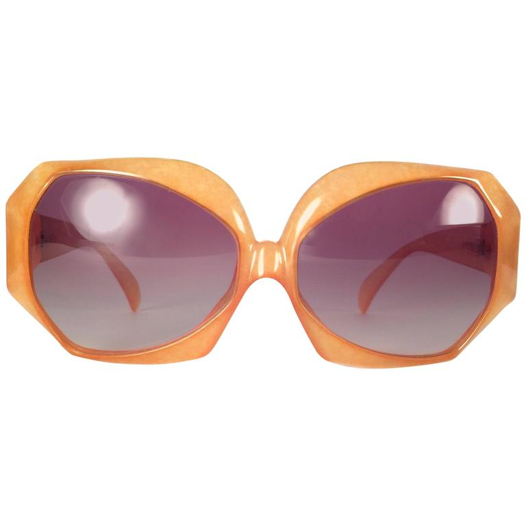 New Vintage Christian Dior 2025 30 Jaspe Amber Jerry Hall Optyl Sunglasses