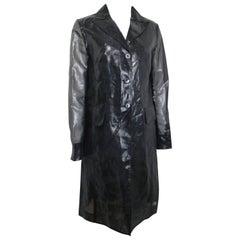Plein Sud Black Polyester/Nylon Long Coat