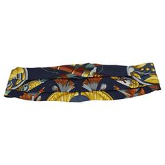Hermes Vintage Silk Smoking Belt // Sash