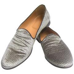 Men's Italian Velvet Slipper Style Shoes Designed by Vero Cuoio Size 44