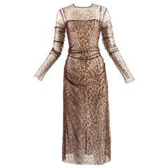Dolce & Gabbana Spring-Summer 1997 leopard print mesh evening dress