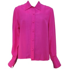 Patrick Kelly Pink Silk Shirt, 1980s
