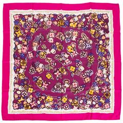Limited Edition Louis Vuitton Silk Floral Scarf