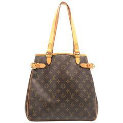 Louis Vuitton Batignolles Vertical Brown Monogram Canvas Shoulder Bag