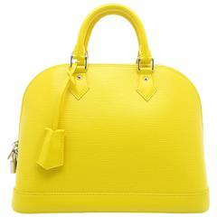 Louis Vuitton Alma PM Epi Leather Yellow Handbag