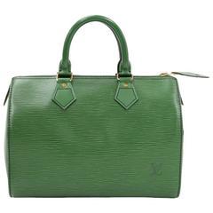 Louis Vuitton Speedy 25 Green Epi Leather City Hand Bag
