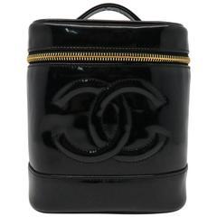 Chanel Patent Leather Handbag Black