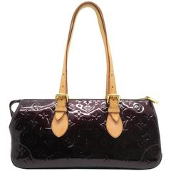 Louis Vuitton Rosewood Wine Red Vernis Shoulder Bag