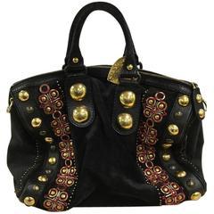 Gucci Babouska Boston Bag Embellished Suede Large