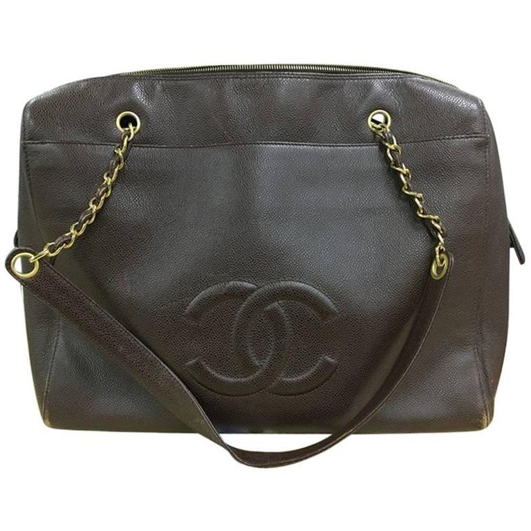 3a13d2e1014c Chanel Vintage Timeless Zip Tote Caviar Large For Sale at 1stdibs