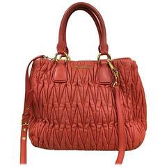 Miu Miu Convertible Tote Matelasse Leather Large
