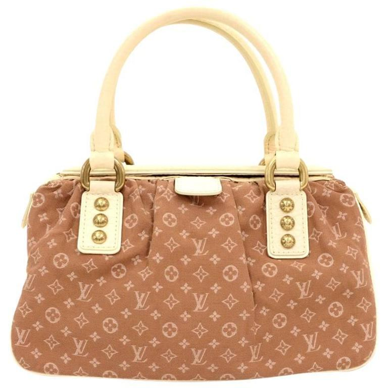 28f716fdc2c4 Louis Vuitton Trapeze PM Brown Mini Monogram Lin Hand Bag at 1stdibs