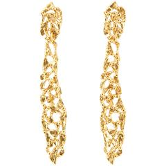 Giulia Barela OH! Earrings, gold plated bronze