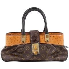 Louis Vuitton Limited Edition Macha Waltz Handbag Monogram Canvas and Exotics