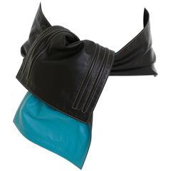 1980s GIANFRANCO FERRE' Leather Cinch Wide Belt