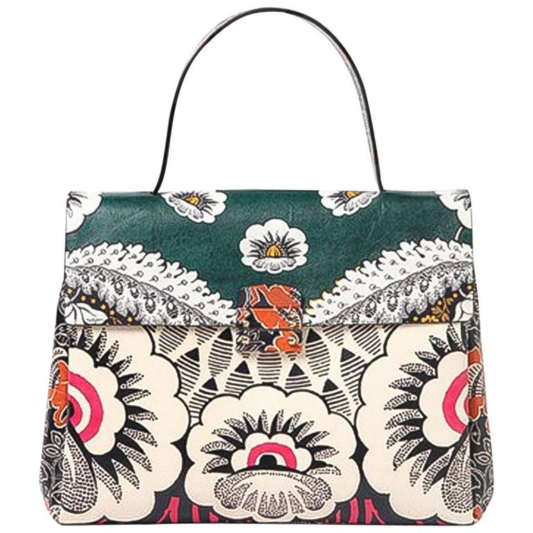 Valentino 2015 Multicolor Floral Print Mime Top Handle Bag rt. $3,645 1