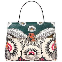 Valentino 2015 Multicolor Floral Print Mime Top Handle Bag rt. $3,645