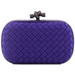 Bottega Veneta Box Knot Clutch Intrecciato Satin Small