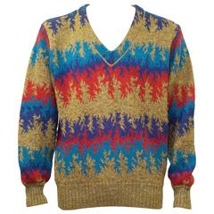 Classic Vintage 1970's Missoni Knit Sweater