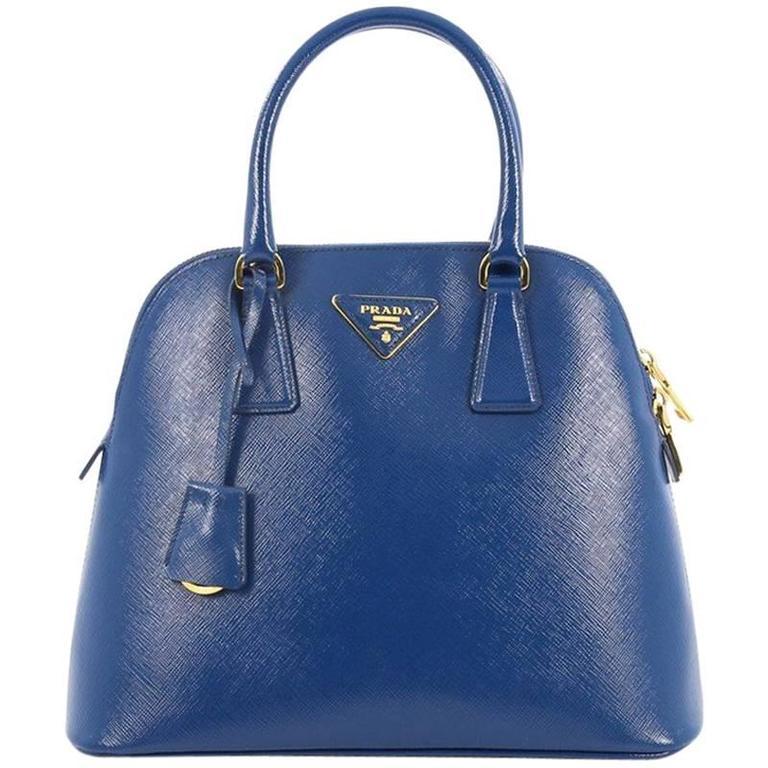 f113c4e26dc9 Prada Zip Around Convertible Dome Satchel Vernice Saffiano Leather North  South For Sale