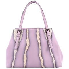 Bottega Veneta A-Shape Glimmer Tote Washed Nappa Leather with Intrecciato