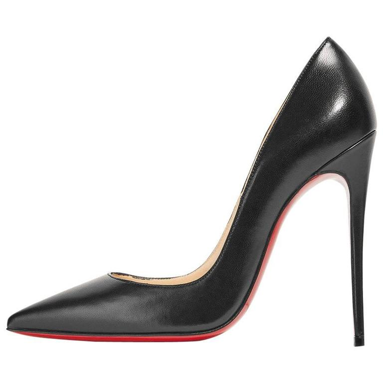 Christian Louboutin New Black Leather SO Kate High Heels Pumps in Box 1