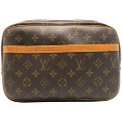 Louis Vuitton Reporter Brown Monogram Canvas Shoulder Bag