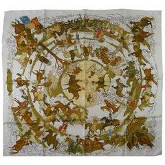 Rare Hermès Les Amazones scarf silk twill 90 cm / BRAND NEW