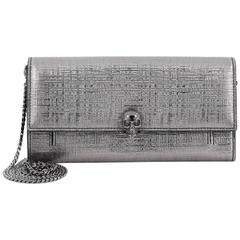 Alexander McQueen Skull Wallet on Chain Leather Small