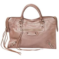 Classic City 38 Light Pink Metallic Leather