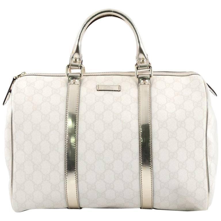 ab00d0145b67 Gucci Joy Boston Bag GG Coated Canvas Medium at 1stdibs