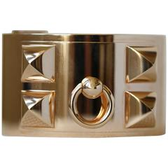 Hermès Gold Collier De Chien Cuff Bracelet
