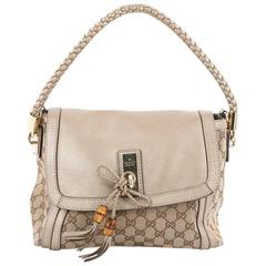 Gucci Marrakech Flap Shoulder Bag GG Canvas with Leather Medium