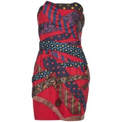 Rare 1990s Moschino Couture Tie Dress