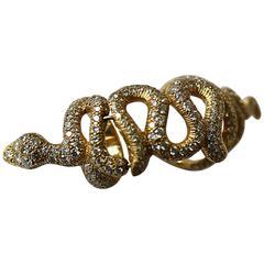 Loree Rodkin Diamond and 18K Gold Snake Knuckle Bondage Ring