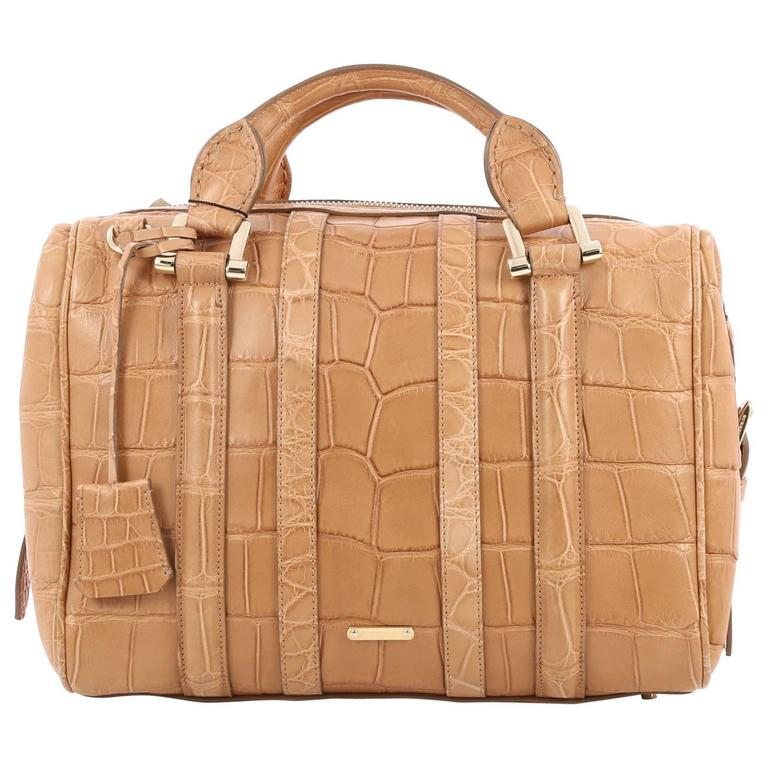 ab933decd363 Burberry Nevinson Bowling Bag Alligator Medium at 1stdibs